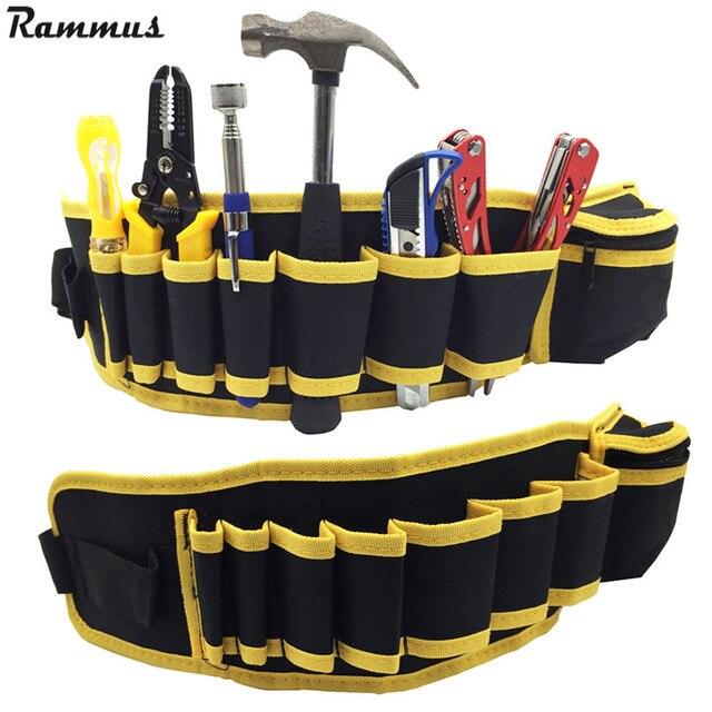 Cintura alta calidad carpintero herramienta martillo bolsa bolsillos  electricista herramienta bolsa titular lona reparación eléctrica DIY 3d96a93702f3