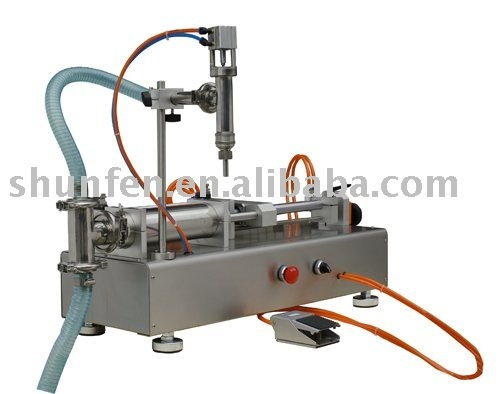 (Free Shipping) Compact Pneumatic Liquid Filling Machine without Electricity (water filler, oil dosing machine, juice filler)