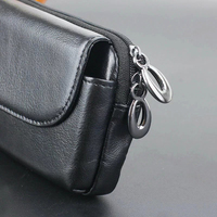 Zipper Man Belt Clip 100 Genuine Cow Leather Mobile Phone Belt Clip Case For Motorola Droid