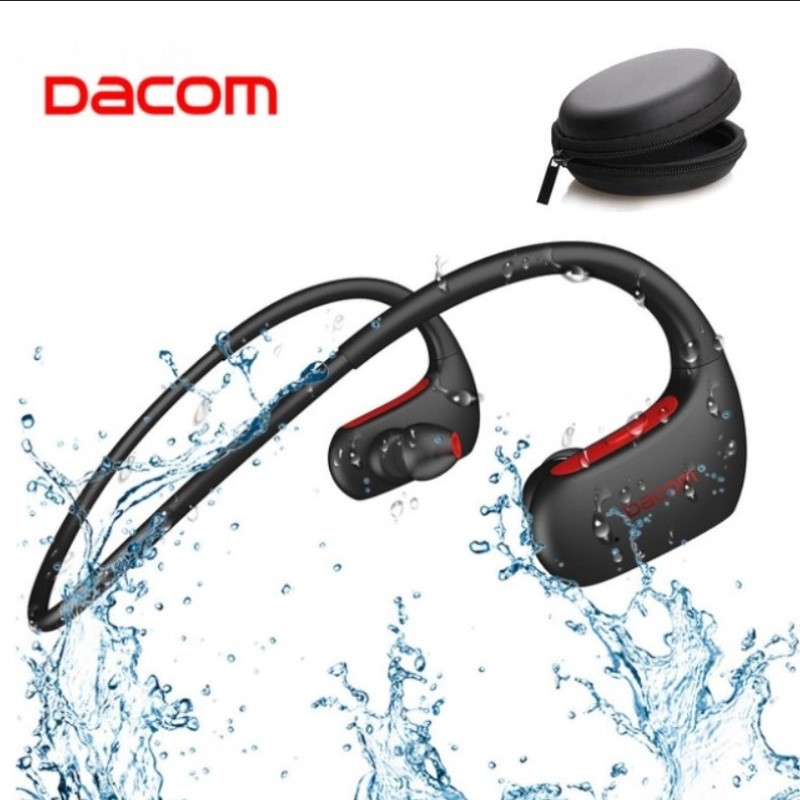 Беспроводные спортивные наушники DACOM L05, Спортивная Bluetooth-гарнитура с басами, стереонаушники с микрофоном, водонепроницаемость IPX7 для смарт...