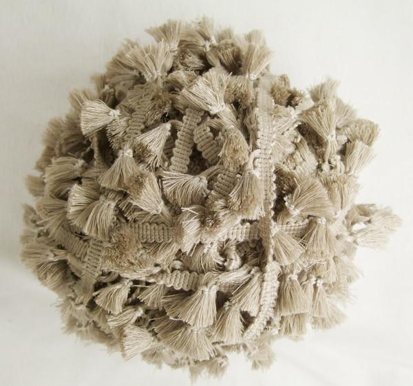 3 yard / parti Vintage 100% bomuldsknyttet kamelfrontrim med søde kvaster 1 cm bredde tape 1,5 cm længde kvaster
