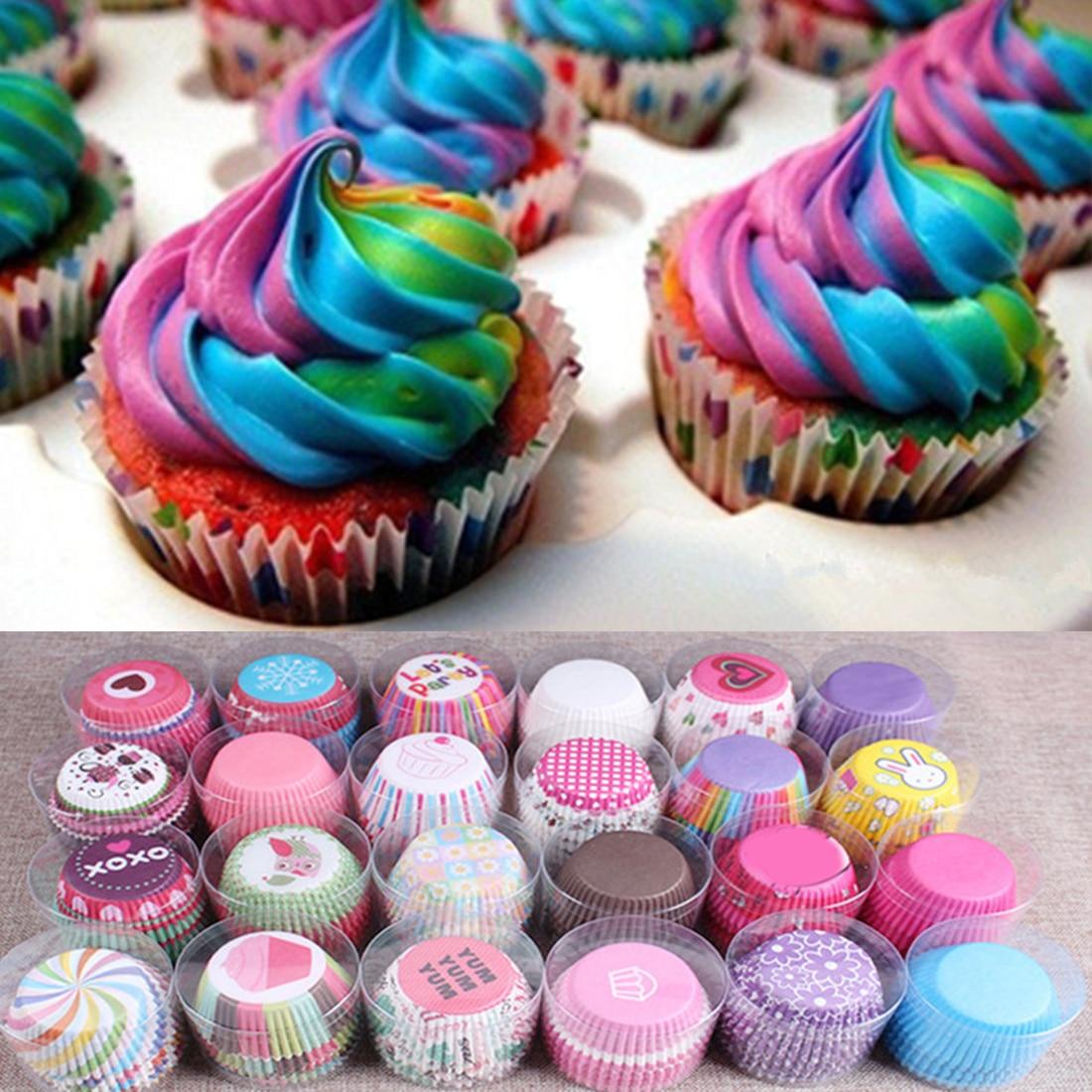 Besar 100 Pcs/lot Alat Memasak Manila Kertas Cangkir Kue Liners Panggang Muffin Dapur Cupcake Kasus Kue Mould -Internasional