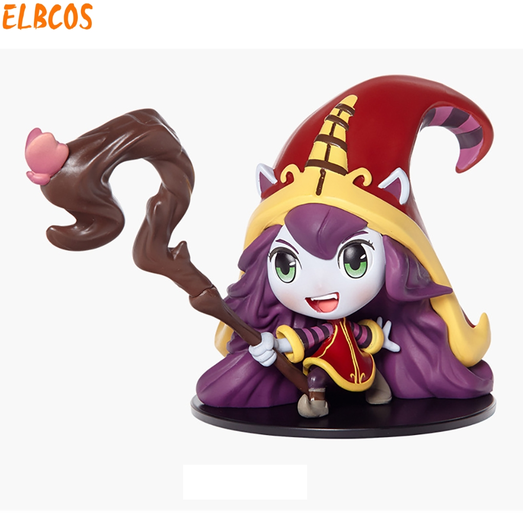 Cosplay LOL Fae Sorceress Lulu 10cm/3.9'' Q Version PVC GK Model Action Figures Toys original skin Garage Kits made for lol cosplay the loose cannon jinx 24cm 9 5 middle pvc gk action figures toys garage kits standing model