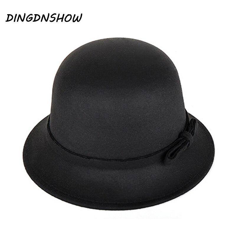 [DINGDNSHOW] 2019 Moda Fedora Şapkalar Vintage Yün Yetişkin Keçe - Elbise aksesuarları - Fotoğraf 1