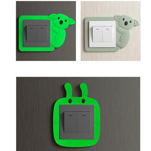 Fluorescent Light Goes On And Off: Luminous Light Switch Outlet Wall Sticker Fluorescent Wall