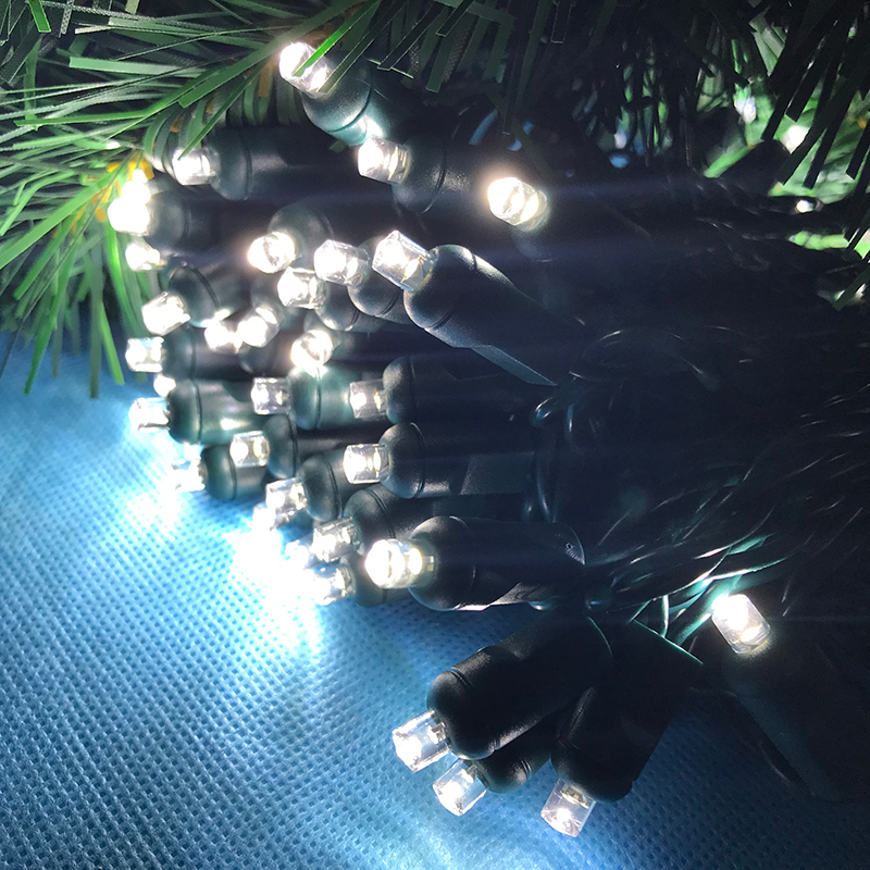 110v led polka dot string lights set 23ft length christmas tree light holiday garland decoration light chain party outdoor
