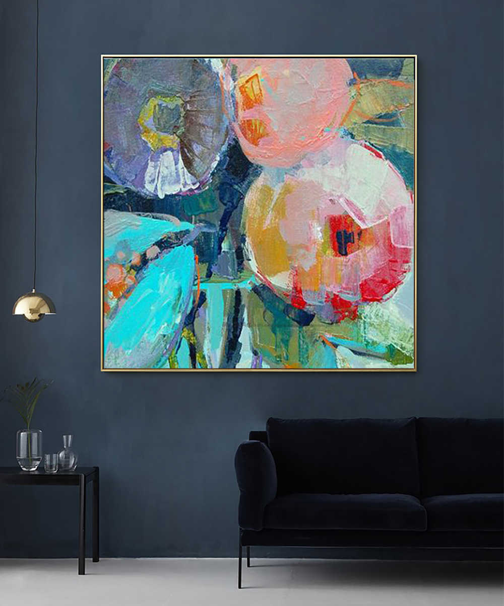 Large Modern pintura oleo flores canvas wall art  abstract oil painting on canvas decorative picture for living room decoration