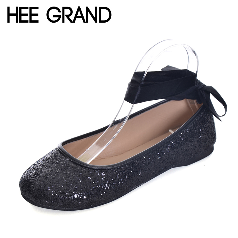 HEE GRAND  Casual Women  Shoes Platform Ribbon Mother Flat Shoes Woman Comfortable Slip On Flats Size 35-39 XWD5938 siketu sweet bowknot flat shoes soft bottom casual shallow mouth purple pink suede flats slip on loafers for women size 35 40