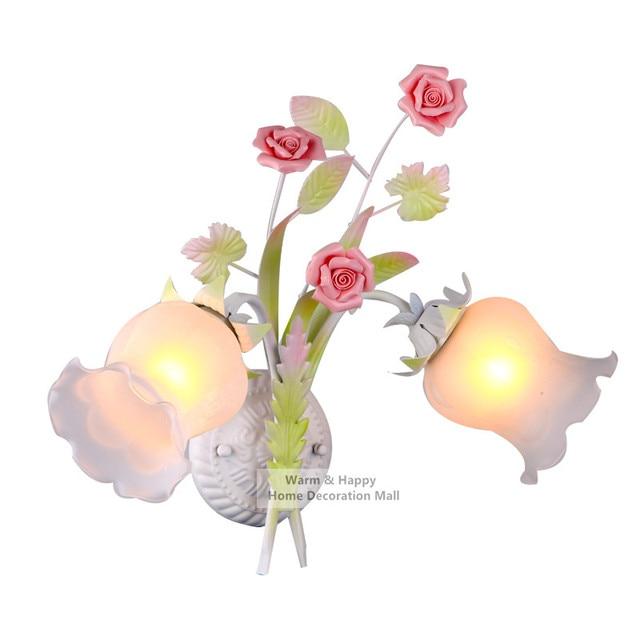 Moderne Land Floral Blume Rose Wandleuchten LED Wandleuchten Für Wohnzimmer  Home Innenbeleuchtung Wandleuchten Decor Leuchten