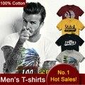 100% T camisas de Algodão Dos Homens de Manga Curta Marca de Design de Verão Blusas masculinas Tees Moda Casual Tshirts Para Man New Arrival JMS