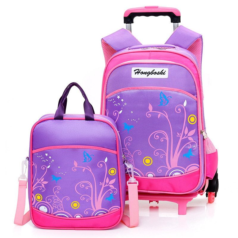 Removable Children School Bags with 2/6 Wheels Child Waterproof Trolley Backpack Kids Wheeled Bags for Boys Girls BookbagRemovable Children School Bags with 2/6 Wheels Child Waterproof Trolley Backpack Kids Wheeled Bags for Boys Girls Bookbag