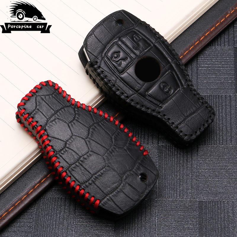 For Mercedes Benz W203 W204 W212 C180 GLK300 CLS CLK CLA SLK C S N E Class Remote Smart Car key Case Cover Leather key Set Bag image