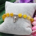 8mm Natural stone Ethnic style Yellow Agate beads Chalcedony Bracelet hand chain for women girls Pendant Elephant Jewelry