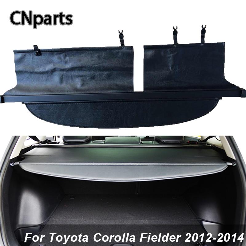 CNparts voiture coffre arrière housse de chargement pour Toyota Corolla Fielder 2012-2014 voiture-style noir bouclier de sécurité ombre Auto accessoires