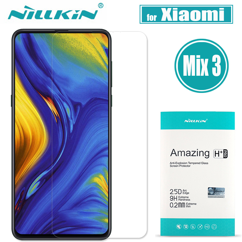 Xiaomi Mix 3 Tempered Glass Screen Protector Nillkin Amazing H+Pro 9H Hard Clear Protective Glass Film for Xiaomi Mi Mix 3 Mix3Xiaomi Mix 3 Tempered Glass Screen Protector Nillkin Amazing H+Pro 9H Hard Clear Protective Glass Film for Xiaomi Mi Mix 3 Mix3