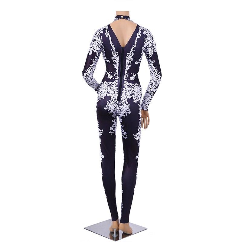 SexeMara 2019 hiver nouvelle élasticité Empire Wasit rayure impression Fitness pantalon dames cheville longueur mode Leggings CPT090 - 4