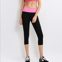 Free Shipping Womens Summer Thin Section Running Exercise Pants Super Elastic Leisure Show Thin Cropped