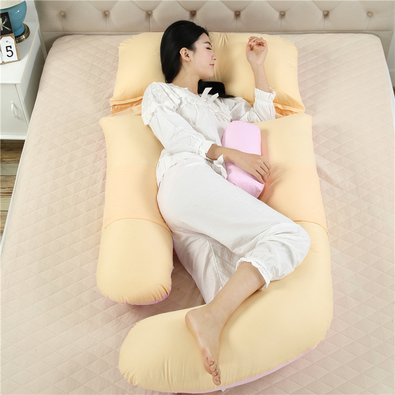 Maternity Waist Side Sleep Pillow Cotton Pregnant Women Cushion Big Body Pregnancy Pillow Leg Belly Support Pad Bedding almofada pregnant women u type pillow multi functional sleep with pillow to protect the waist side sleep bed belly pillow