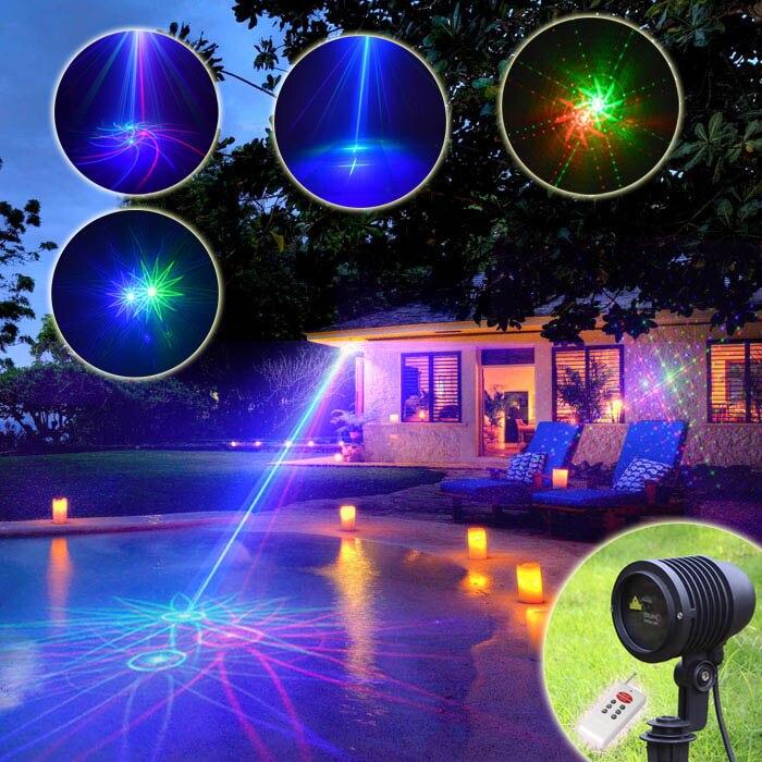 Chims RGB 8 Big Pattern Laser Projector Outdoor Waterproof IP65 Light Garden Halloween Xmas Lawn