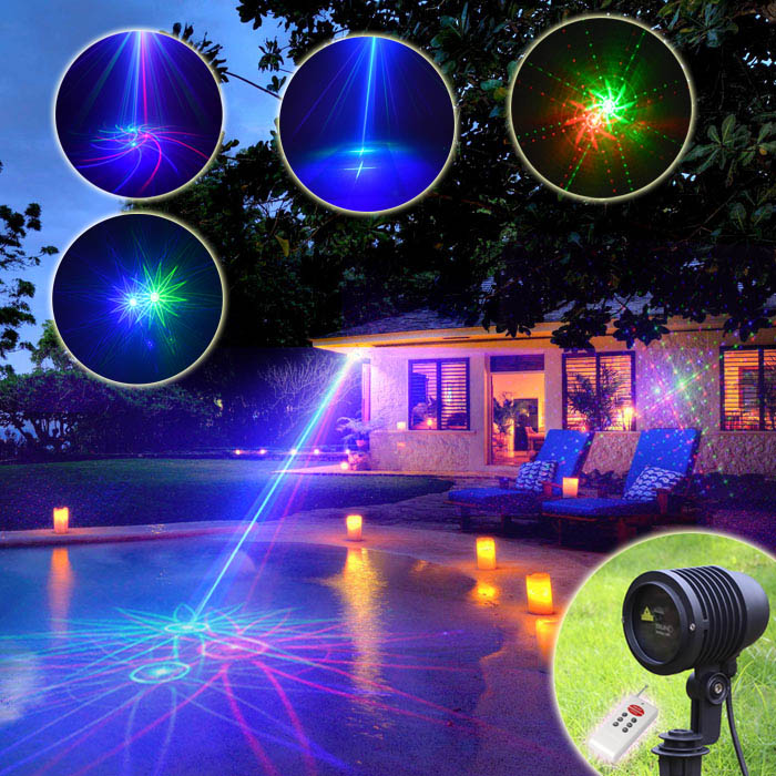 Suny rgb 8 big pattern laser projector outdoor waterproof - Halloween laser light show ...