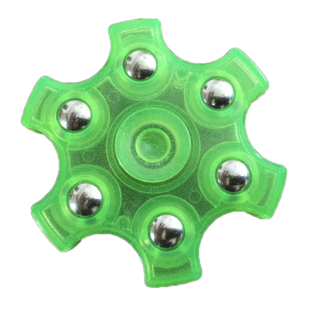 New Luminous Finger Gyro Triangular Hands Spinner Flashing Fingertips Hand-spinner Toy Gifts For Kids Adults