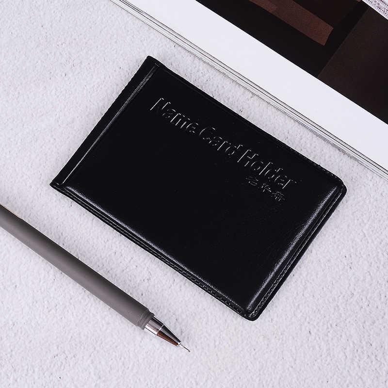 1 unidad de cuero PU 40 tarjetas de identificación titular de la tarjeta de crédito caja de libro organizador de negocios Vintage bolsa de pasaporte funda de tarjeta de crédito