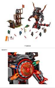 Image 3 - Bela 734 figuras del amanecer de Iron Doom Ninja, conjunto de Mini figuras compatibles con Ninjagoes 10583, Juguetes de bloques de construcción para niños, 70626