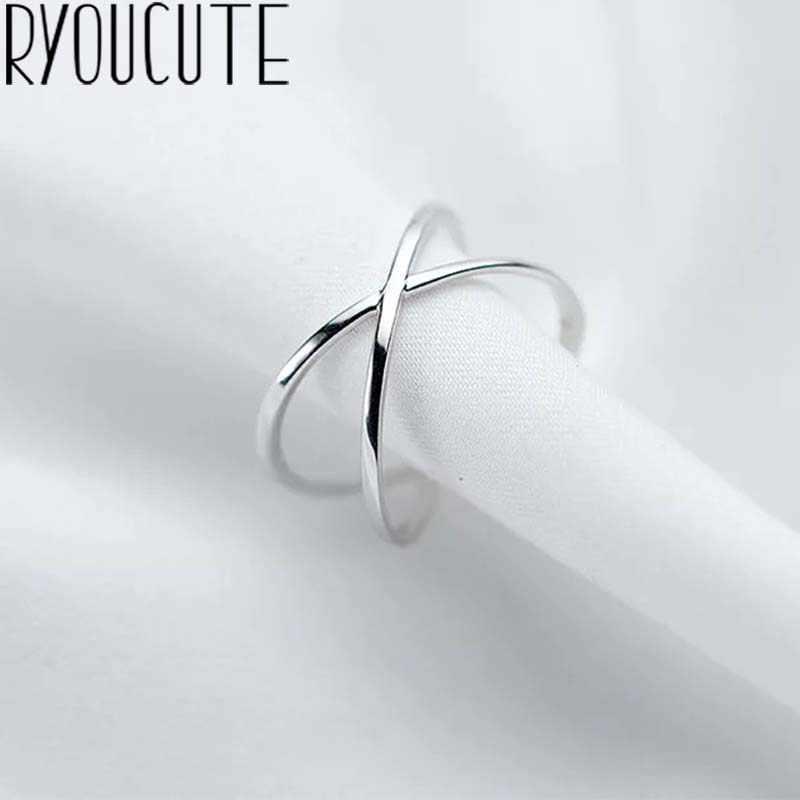 Bohemian Vintage Silber Farbe Kreuz Ringe für Frauen Hochzeit Trendy Schmuck Große Einstellbare Antike Ringe Anillos