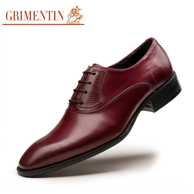 Designer Sapatos Couro Alta Se Masculinos Dos Vestem Italy Qualidade Genuíno Black Homens Grimentin brown De Casamento UqB8gw