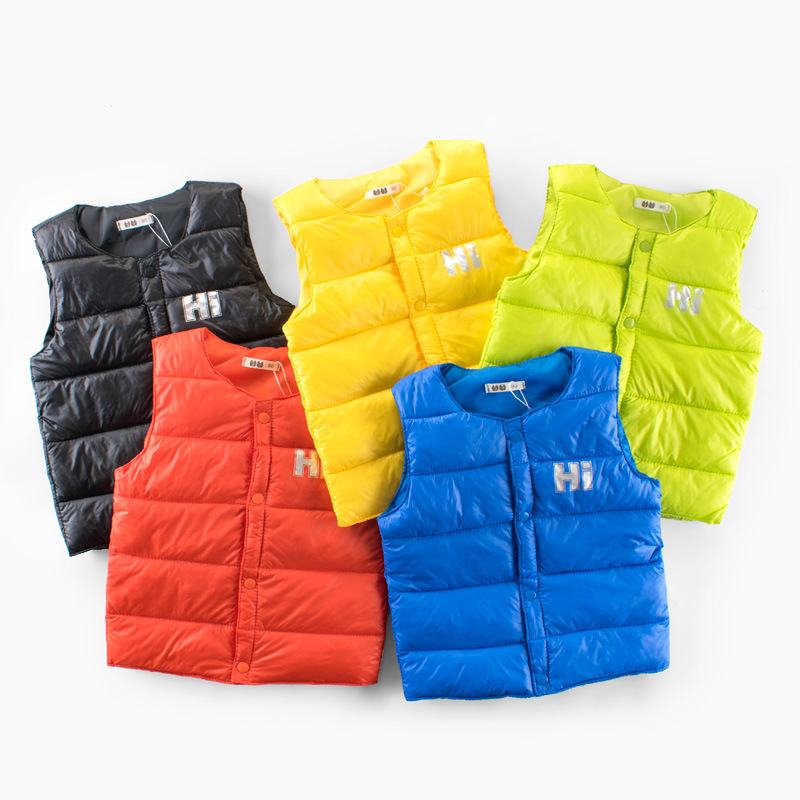 2018 new Autumn winter kids warm vest boy girl Sleeveless sweater coat baby toddler fashion sport Children's clothing clothes