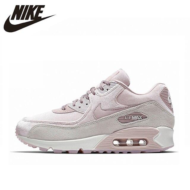 NIKE AIR MAX 90 LX de las mujeres Zapatos rosa resistente a los golpes antideslizante de la abrasión ligera y transpirable de 898512 a 600
