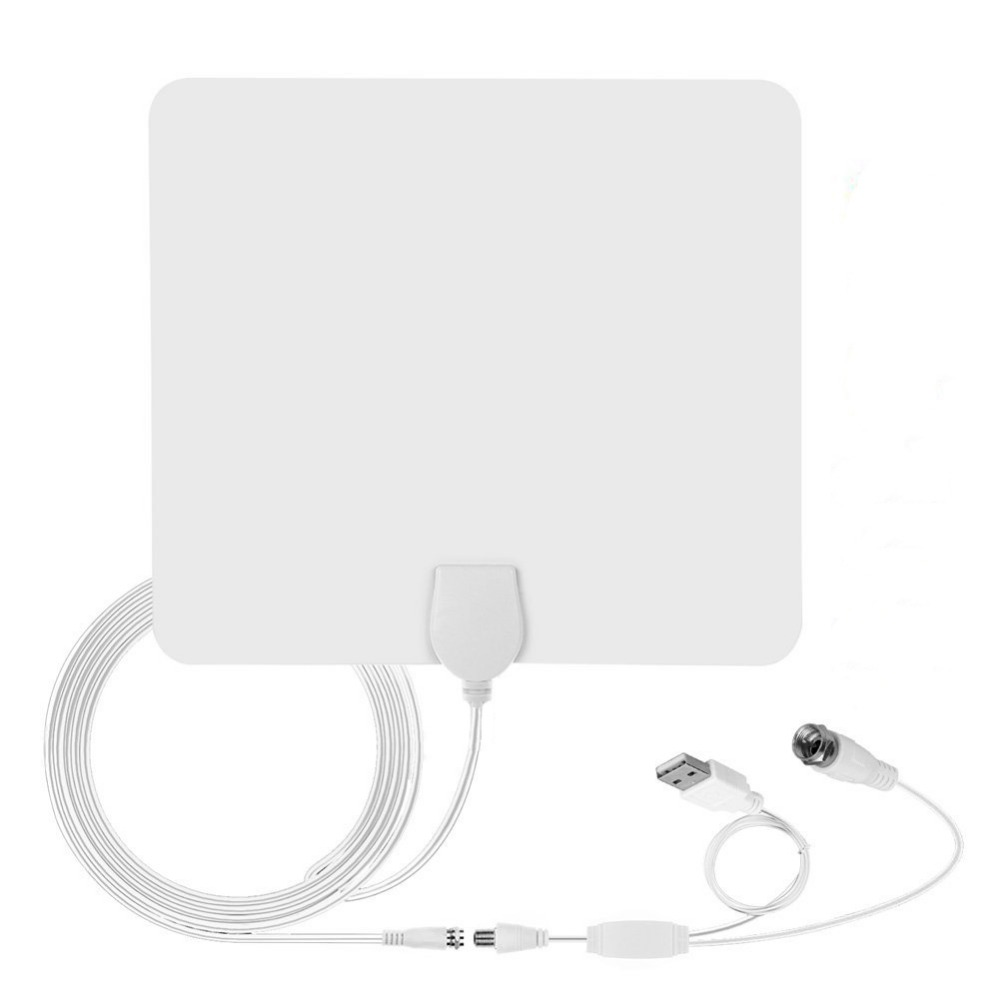Digital HD TV Antenna with Amplifier Signal Booster Cable TV Surf Fox Antena Freeview Receiver Spain 4K Antennas 80 Miles Indoo