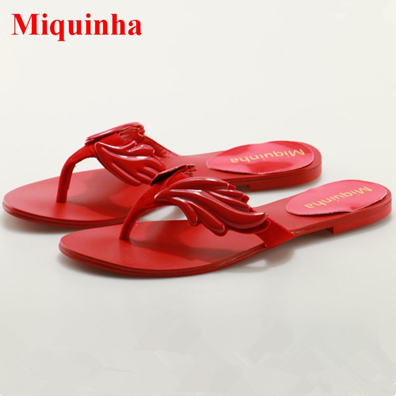 0140411717300 2018 Summer Women Flat Sandals Gold Metallic Wing Sandals Thong Slides Flip  Flops Leaves Slippers Outdoor Casual Shoes Women 2 3. IMG 7136 M  ...