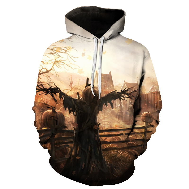 Men's Clothing New Style Hoodies Halloween Skeleton 3d Printing Funny Autumn Sweatshirt Thin Hooded Coats Casual Sportswear Possessing Chinese Flavors
