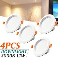 4 Pcs/lot LED Panel Down Lights 220V 12W 18W Round Aluminum Ceiling Light Warm White for Home Living Room Bedroom Hotel Decor