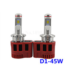 2pcs Car LED Headlamp Bulbs P6 90W 9000LM D1 D2 D3 D4 Car LED Headlight Conversion Kit 6000K  White Super Bright