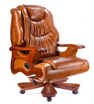 Leather chairs leather chair wood office chair, president chair reclining massage chair lift computer computer chair home boss chair leather business reclining massage executive chair solid wood swivel chair lift office seat