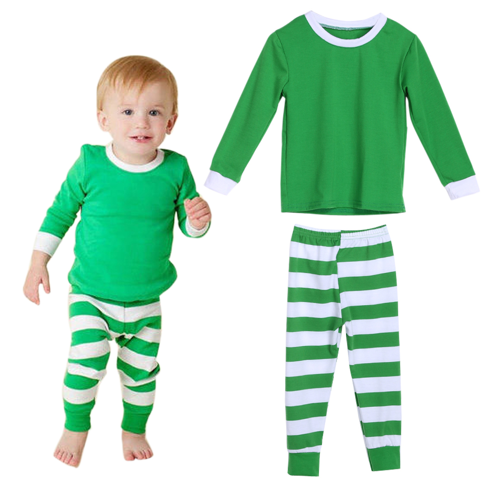 7b94fff1e7 family christmas pajamas set kids long sleeve matching elk striped  snowflake sleepwear adult kids nightwear