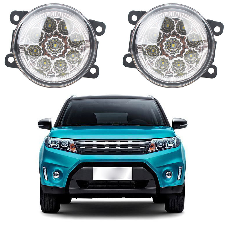 For Suzuki Grand Vitara 2 JT 2005-2015 Car styling CCC E2 3000-1WK LED Fog Lamps DRL Lights 1set auto engine power steering pump 49100 65j00 4910065j00 55113201 for suzuki grand vitara ii jt 2 0