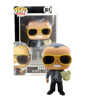 FUNKO POP Official The Father of Marvel Stan Lee & QUAKE Vinyl Action Figure Collection Model toys for Children Christmas gift