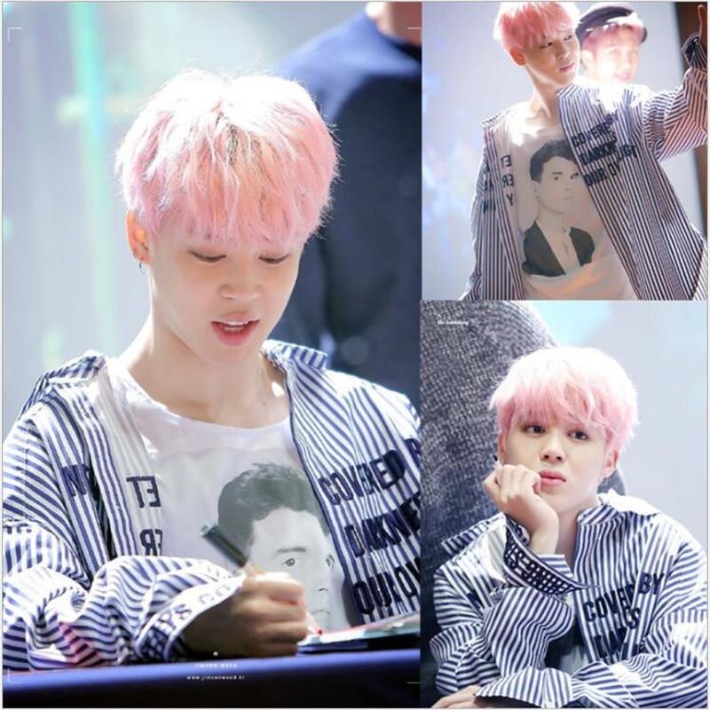 2018 New Kpop Bts Bangtan Boys Jimin The Same Paragraph Striped Shirt V Suga The Same Paragraph Boyfriend Hoodie Jacket