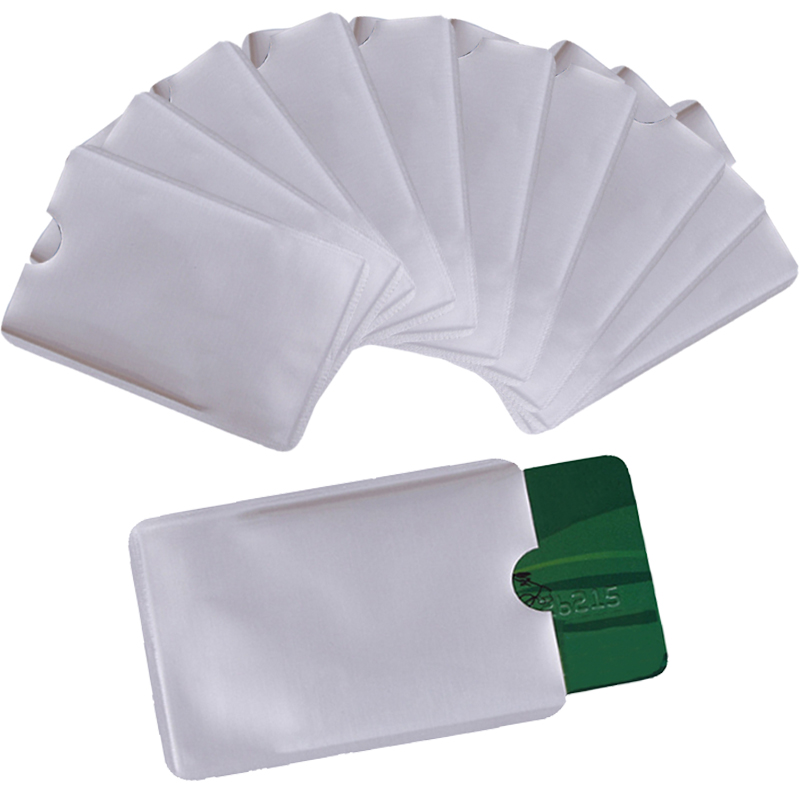 10pcs/set RFID Shielded Card Blocking 13.56mhz IC card Protection NFC security card prevent unauthorized scanning nfc shielded sleeve rfid cardblocking 13 56mhz ic card protection nfc security card prevent unauthorized scanning