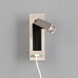 Nowoczesne oświetlenie ścienne led oprawa USB ładowarka oświetlenie kinkiet lampa nocna kinkiet zagłówkiem Wallland światła AC110 ~ 260V w Wewnętrzne kinkiety LED od Lampy i oświetlenie na