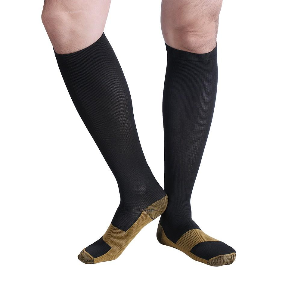 Underwear & Sleepwears Fast Deliver 3 Pairs Unisex Miracle Copper Compression Socks Knee Anti-fatigue Leg Slimming Socks For Men And Woman