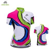 ZEROBIKE nowy MTB Bike damska koszulka kolarska z krótkim rękawem kurtka Quick Dry oddychająca 100% koszulka poliestrowa maillot ciclismo w Koszulki rowerowe od Sport i rozrywka na