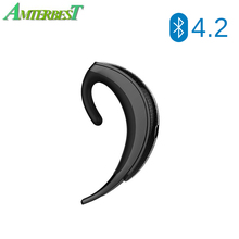 AMTERBEST Q12 Wireless Bluetooth 4.2 Earphone Single Over Ear Headset with Mic Handfree