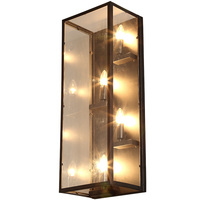 Vintage Plated Industrial Wall Lamp Retro Loft Edison Bulb Wall Light Lamparas De Pared Stair Bathroom Iron Wall Sconce WL216