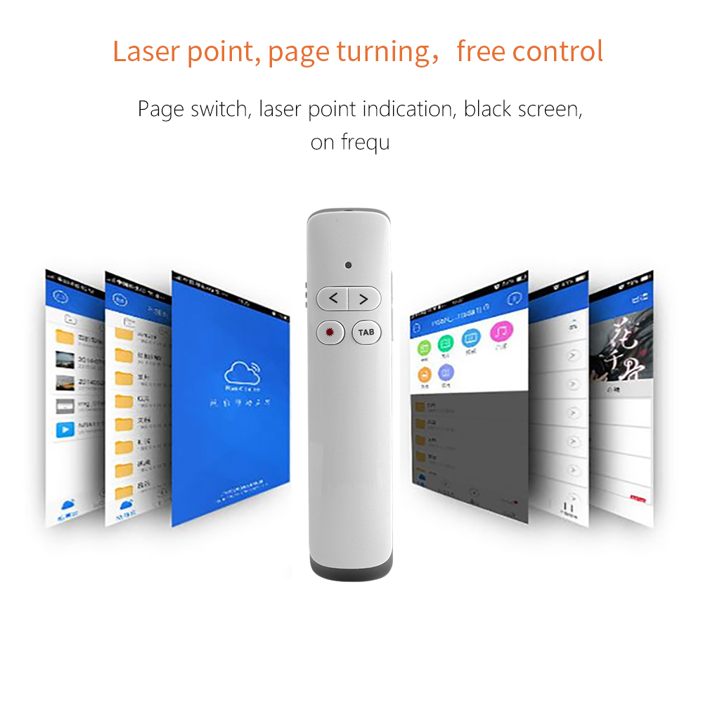 PP924 2.4 GHz Wireless Presenter PPT Flip Pen 50m Remote Control Present Pointer Rechargeable Slide Laser Pointer Clicker image