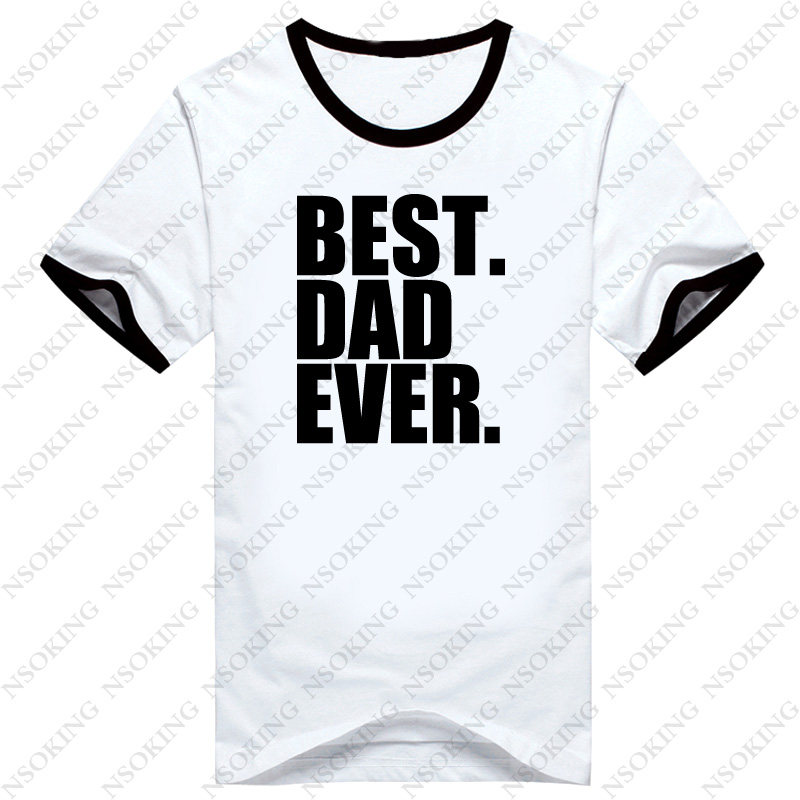 New Fathers Day Gift Best Dad Ever Printed Mens T-Shirt T Shirt For Men Short Sleeve O Neck Cotton Casual Top Tees