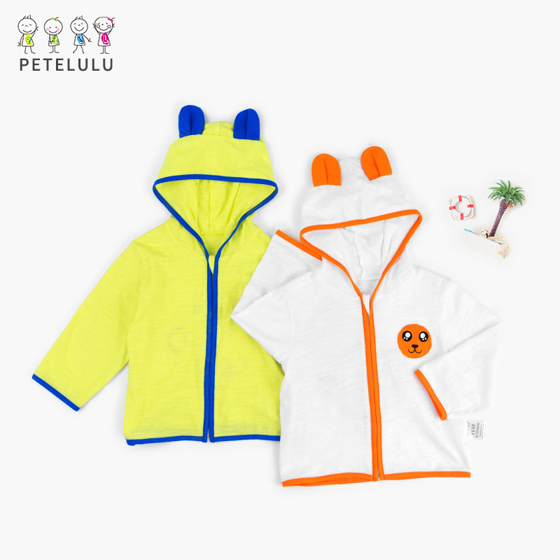 Petelulu Breathable Thin Baby Coat Summer Baby Cartoon Coat Hooded Baby Outerwear Spring Baby Girls Outerwear